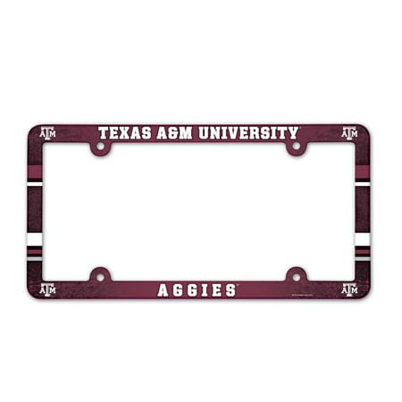 Texas Plastic License Plate (Texas A&M Aggies Official NCAA 12 inch x 6 inch  Plastic License Plate Frame by)