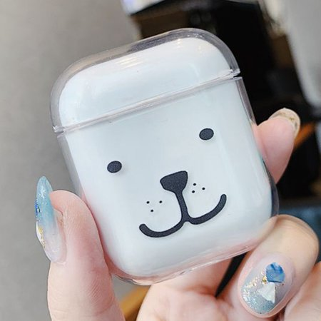 KABOER Cartoon Pet Pattern Transparent Airpods Case Earphone Protective Charging Case Cover For Apple Airpods(Only Case,Airpods Not Included).