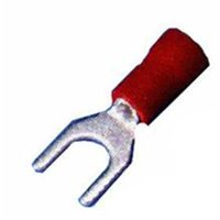 Vinyl Insulated Spade Terminals - 22-16 Wire, No. 8 Stud, Pack Of 25