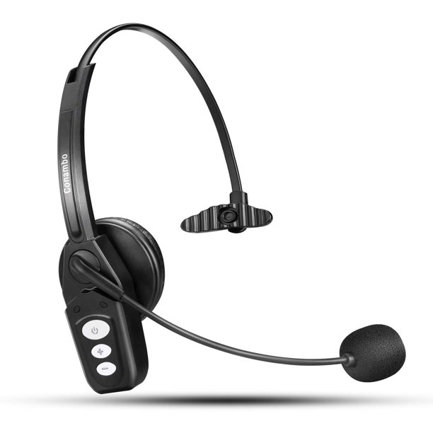 Bluetooth Headset V5 0 Pro Wireless Headset High Voice Clarity With Noise Canceling Mic For Cell Phone Trucker Engineers Business Home Office Jbt800 Walmart Com Walmart Com
