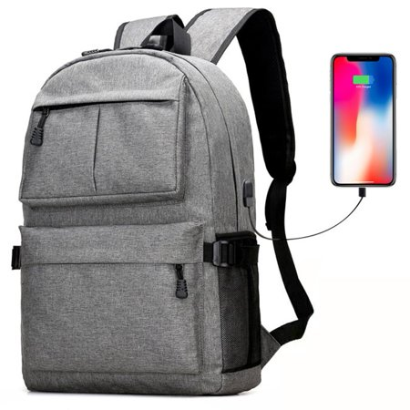 ecf61e68d5c Backpack, Multifunctional Laptop Backpack with USB Charging Port, Large  Capacity Travel Backpack School Bag