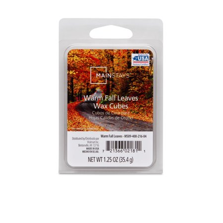 Mainstays 6-Cube Wax Melts, Warm Fall Leaves - Single