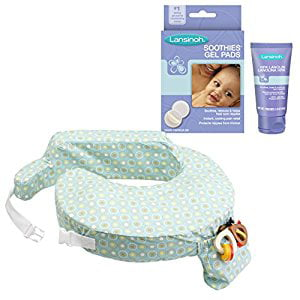 My Brest Friend Original Nursing Pillow with HPA Lanolin & Soothie Gel Pads, Sunburst by My Brest Friend