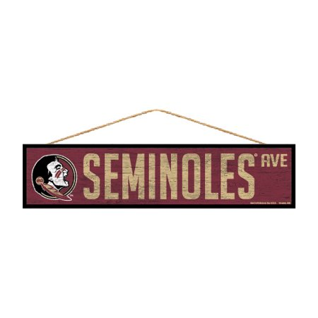 Florida State Seminoles Official Ncaa Wood Street Wall Sign 4X17 By Wincraft 900326