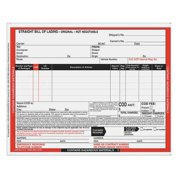 JJ KELLER Hazmat Bill of Lading Forms,Hazmat,PK500 12463