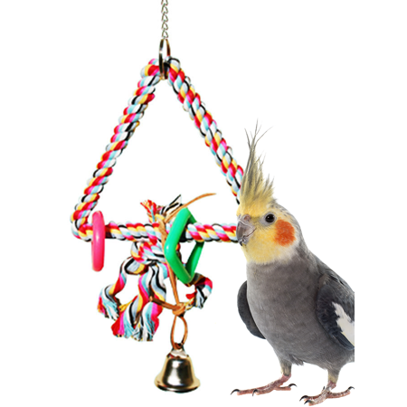 Bonka Bird Toys 1016 Small Rope Triangle Bird Toy.