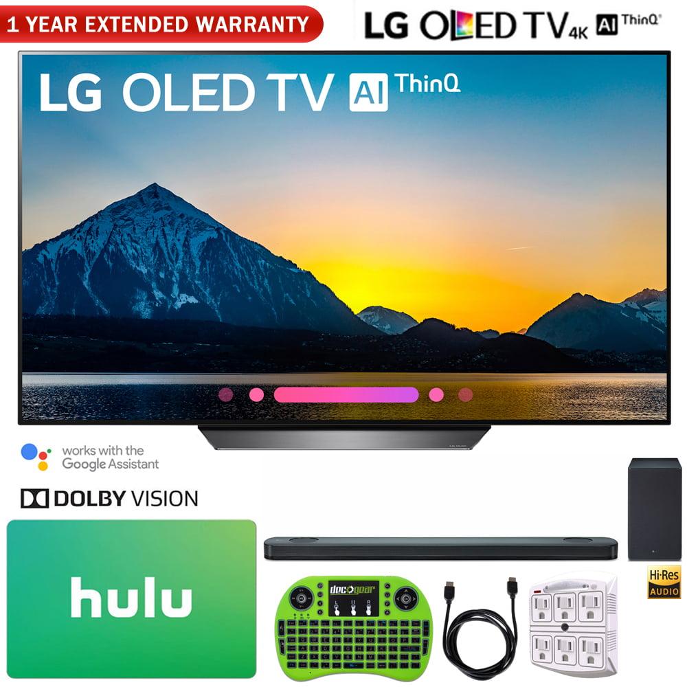 "LG OLED55B8PUA 55"" Class B8 OLED 4K HDR AI Smart TV (2018) + LG SK9Y 5.1.2-Channel Hi-Res Audio Soundbar with Dolby Atmos + Hulu $100 Gift Card + More"