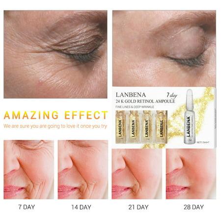 Gold Serum - 24K Gold Retinol Ampoule Face Lift Serum Liquid Moisturizing Anti Wrinkle