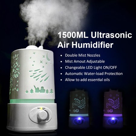 Zimtown Ultrasonic Aroma Humidifier Air Diffuser Purifier Lonizer Atomizer with Color