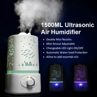 Zimtown Ultrasonic Aroma Humidifier Air Diffuser Purifier Lonizer Atomizer with Color Changing