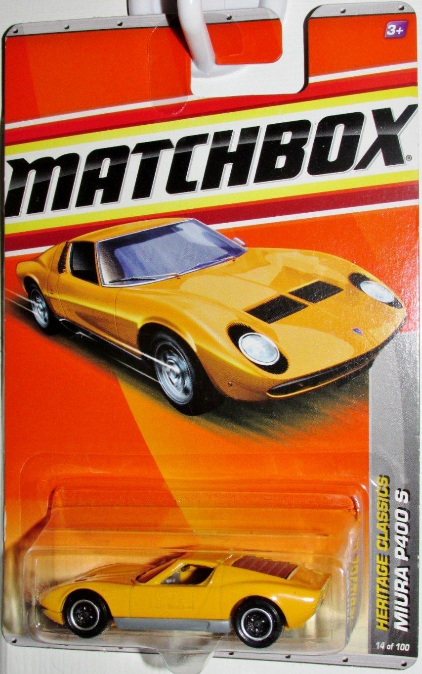 2011 Lamborghini Miura P400 S Orange #14 of 100, 1:64 By Matchbox by
