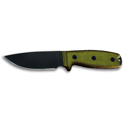 Click here to buy Ontario Knife Company RAT-3 1095 Knife with Green Sheath by Ontario Knife Company.