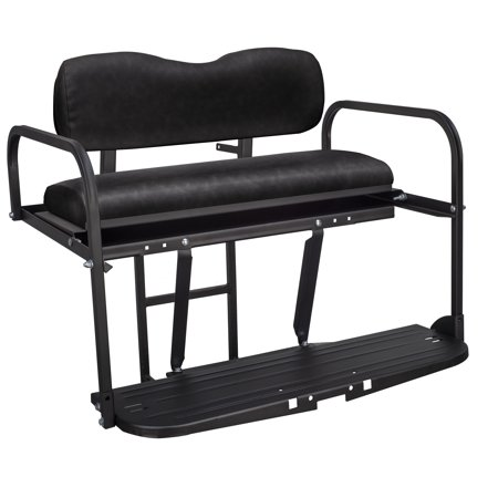 Gusto™ Club Car Precedent Golf Cart Rear Flip Seat Kit for 2004 and Up - Black