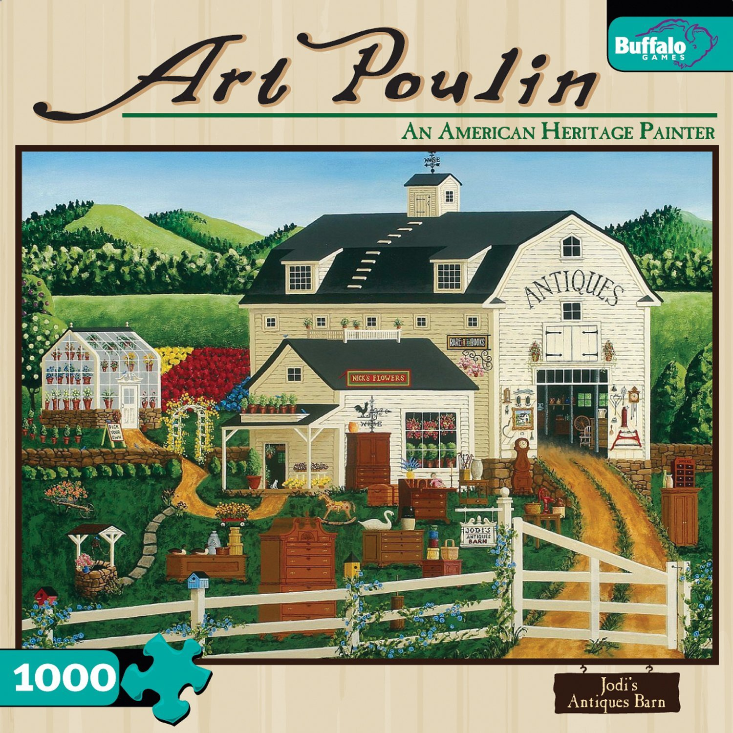 Art Poulin Painting 1000 Piece Jigsaw Puzzle Jodi's Antiques Barn