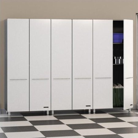 Ulti-MATE Storage 3 Piece Tall Cabinet Kit in Starfire White