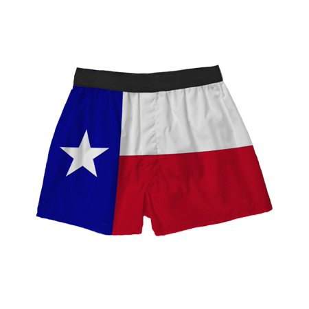 Brief Insanity Texas Flag Silky Unisex Boxer Shorts Gifts for Men Women (Texas Mens Underwear)