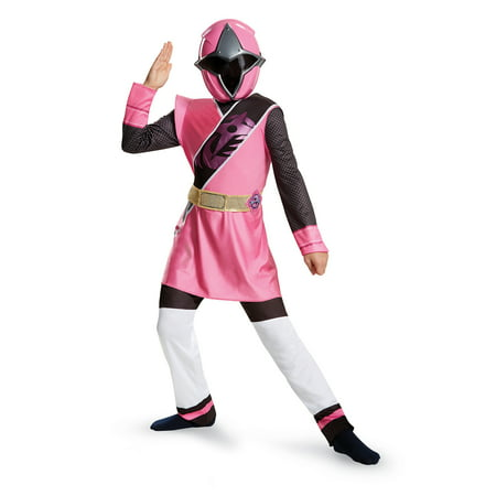 Power Rangers Girls' Pink Ranger Ninja Steel Deluxe Costume