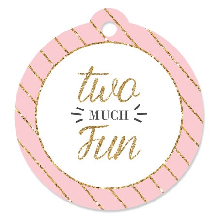 Two Much Fun - Girl - 2nd Birthday Party Favor Tags (Set of 20)](Girl 2nd Birthday Party Themes)