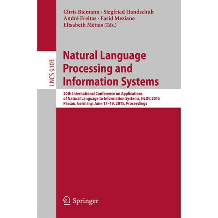 Natural Language Processing and Information Systems - (Advances In Neural Information Processing Systems 25)