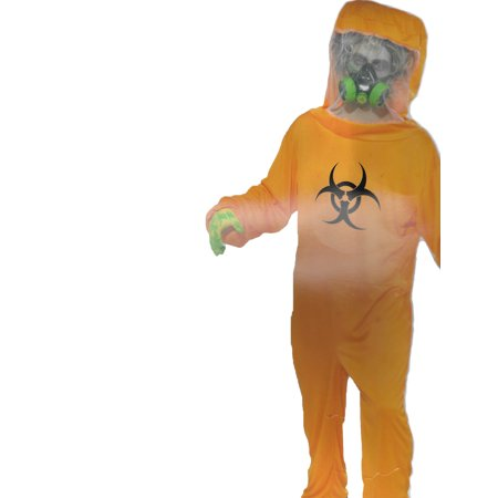 Forum Halloween Cosplay Biohazard Suit Adult Costume, Orange, One - Biohazard Suit Halloween