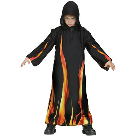 Burning Cloak Red Fire Childs Hooded Robe Halloween Costume for $<!---->