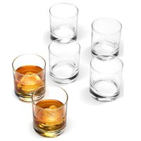"""ShopoKus Small 2 ¾"""" x 3"""" Italian Weighted Bottom Old Fashioned Whiskey Glasses for Wine, Scotch, Cocktails, Juice, and Water - [6 Piece Set] 6 ½ Ounce"""