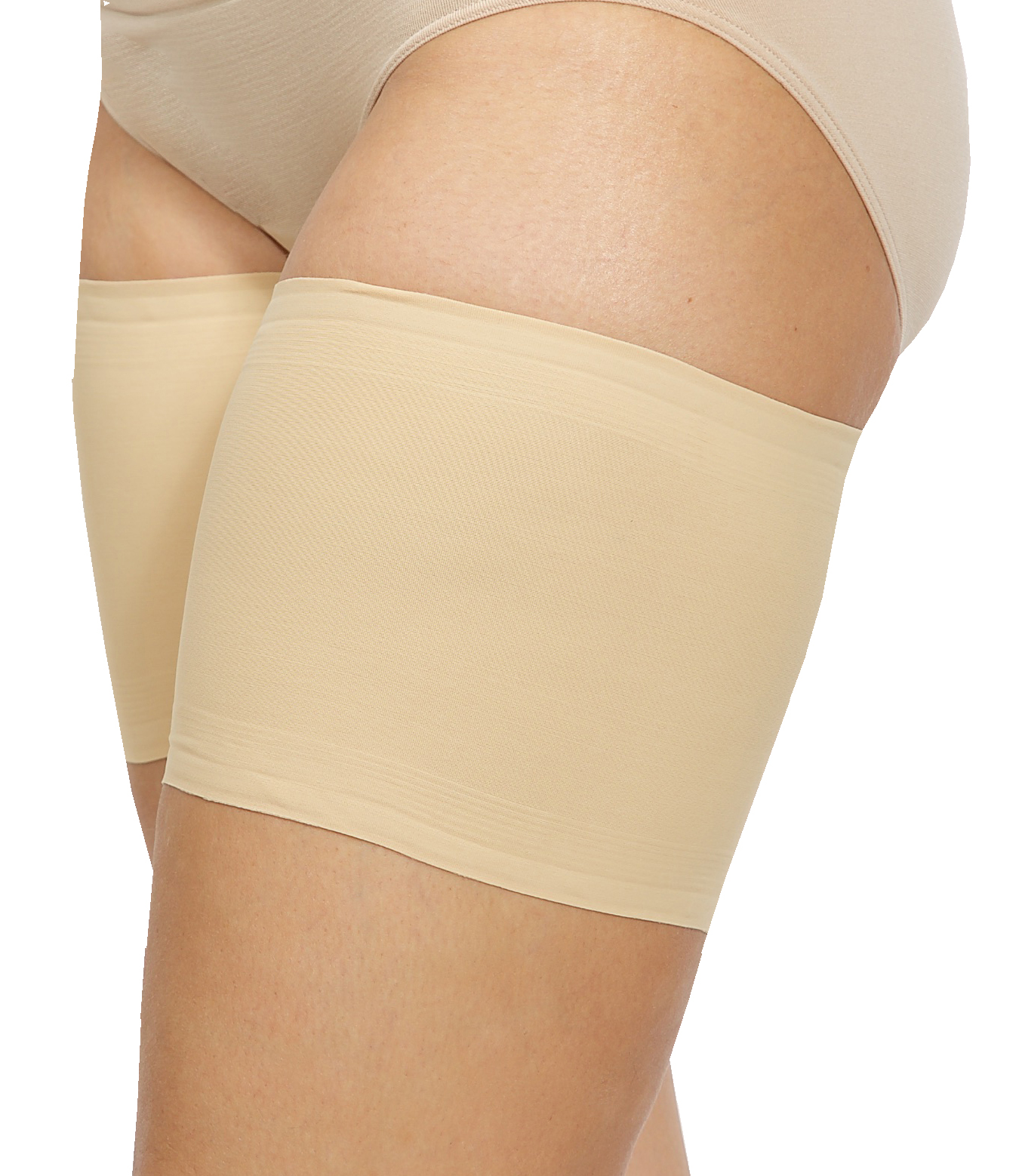 Beige Size D Women/'s Elastic Anti-Chafing Thigh Bands Unisex