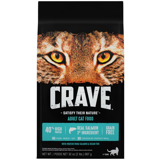 Crave Grain-Free With Protein From Salmon And Ocean Fish Dry Adult Cat  Food, 2 Lb
