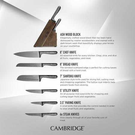 Cambridge Silversmiths Nero Black 12-Piece Cutlery Set with Block