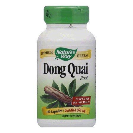 Natures Way Capsules Certified 565 mg Dong Quai Root, 100 ea