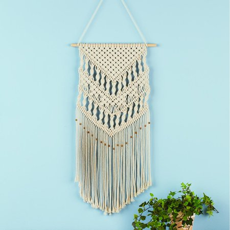 Collections Etc Macrame Wall Hanging Tapestry Boho Home Décor Stylish Decorative Accent For Any Room In