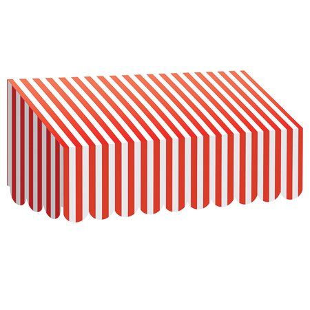 - RED & WHITE STRIPES AWNING