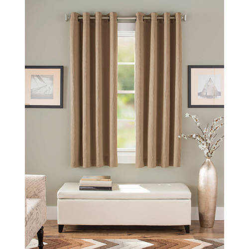 Better Homes And Gardens Crushed Room Darkening Curtain Panel   Walmart.com