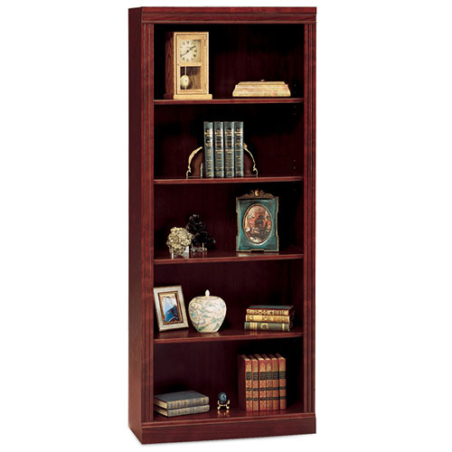 Bush Saratoga 5-Shelf Bookcase, Harvest Cherry