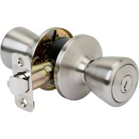 Brink's Keyed Entry Doorknob, Tulip, Polished Brass Finish