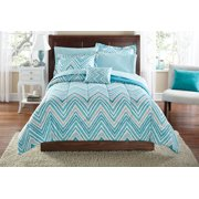 Mainstays Watercolor Chevron Bed in a Bag