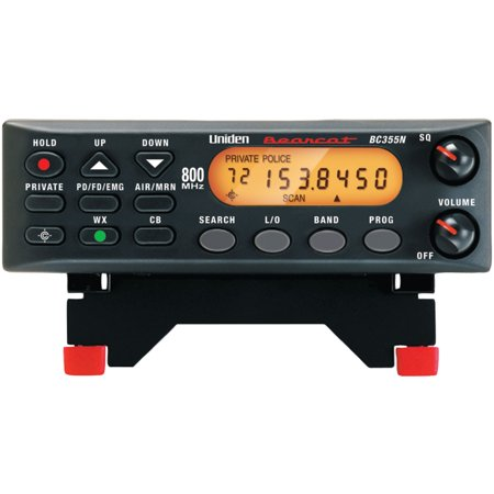 - Uniden 800 MHz 300-Channel Base Mobile Scanner (BC355N)
