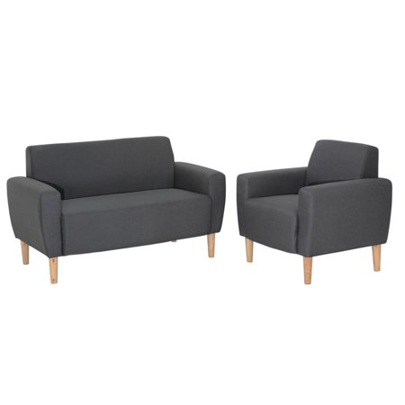 ViscoLogic Mid-Century Sofa for Small Spaces (Love Seat) Grey - image 4 of 8