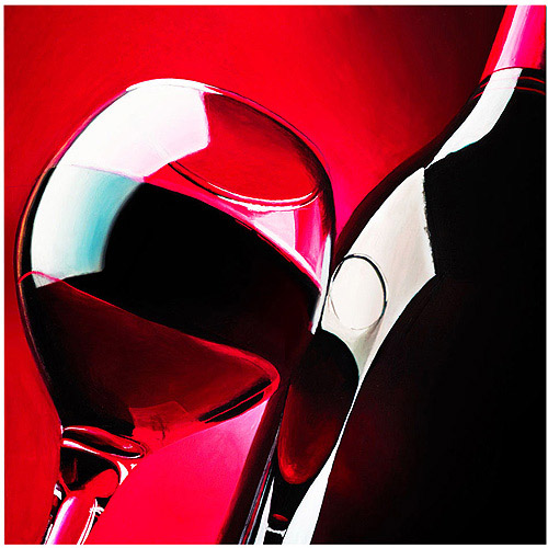 "Trademark Art ""Red Wine"" Giclee Canvas Art"