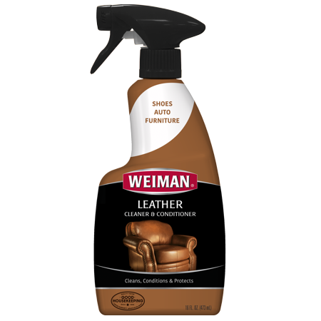 Weiman Leather Cleaner and Conditioner - 16 Ounce - For Car Auto Furniture Purse and