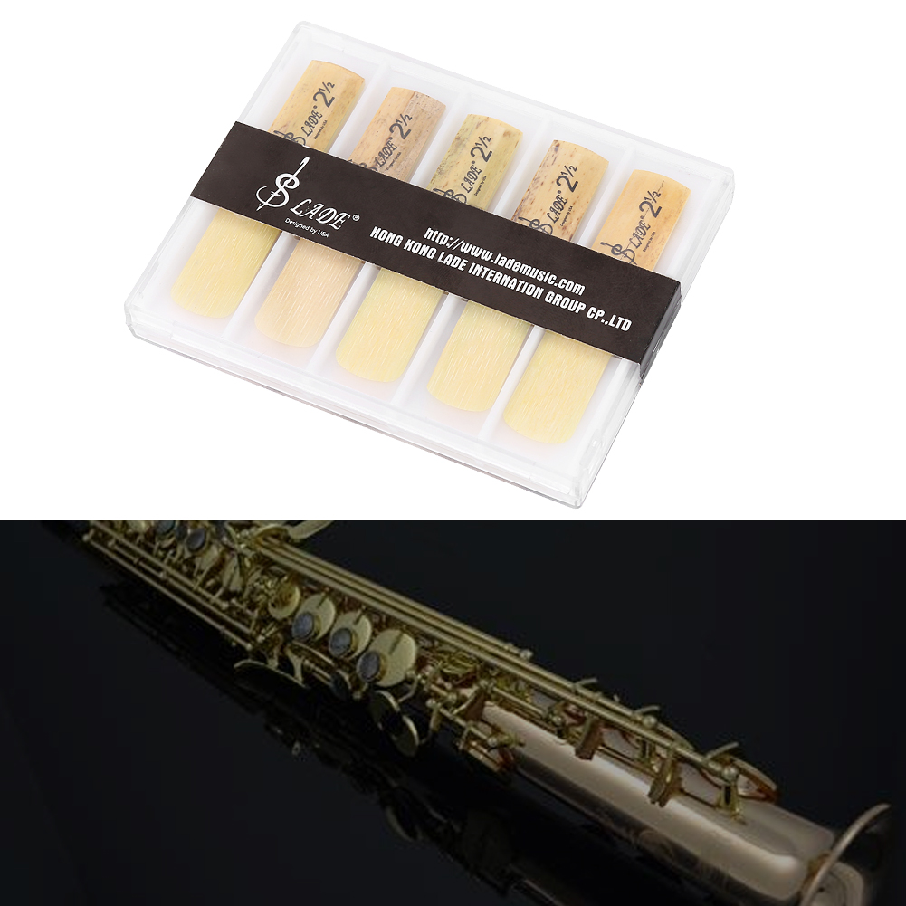 10pcs Plastic 2.5 Soprano Saxophone Mouthpiece Reeds Repair Parts Repair Reed Accessory... by