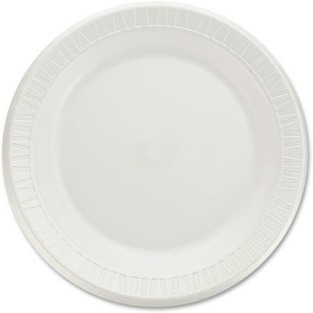 Concorde Non Laminated Foam Dinnerware - Dart, DCC9PWQR, Classic Laminated Foam Dinnerware Plates, 125 / Pack, White