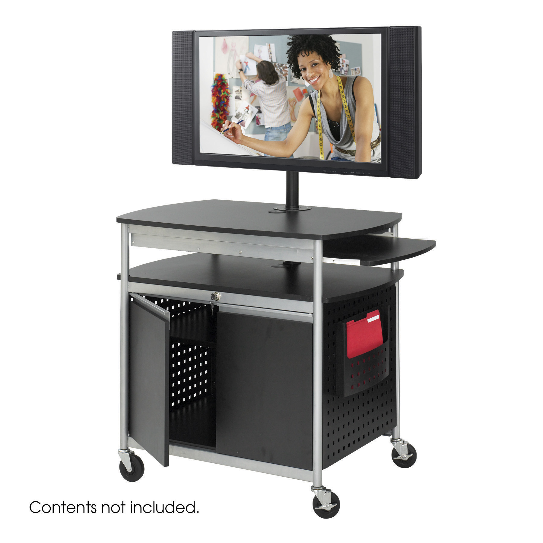 Safco 8941BL Presentation Furniture Scoot Flat Panel Multimedia Cart