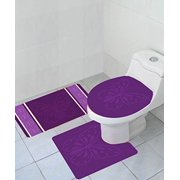 Empire Home Thick 3 Piece Erfly High Pile Bathroom Set With Bath Mat Rug And Toilet