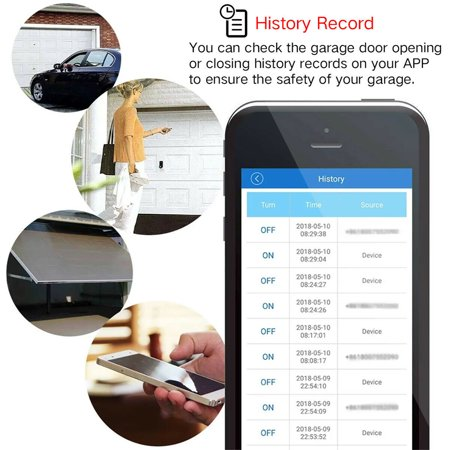 2.4GHz WiFi Smart Switch Garage Door Opener Smart Home Remote Controller for Alexa for Google Home for Echo APP Control - image 5 of 8