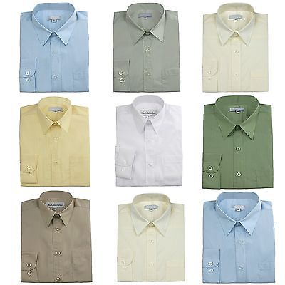 Boy Teen Formal Suit Shirt White Taupe Banana Gray Lilac Green Blue Ivory - Banna Suit