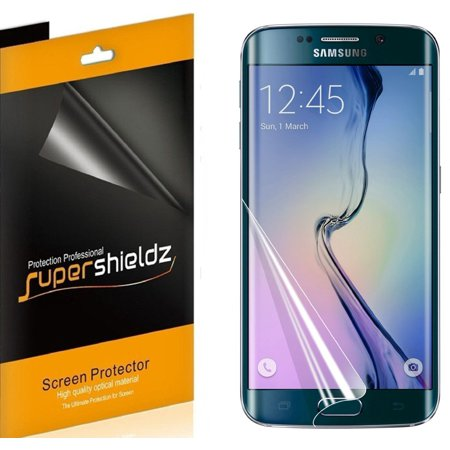 [2-pack] Supershieldz for Samsung Galaxy S6 Edge Screen Protector [Full  Screen Coverage] Anti-Bubble High Definition (HD) Clear Shield