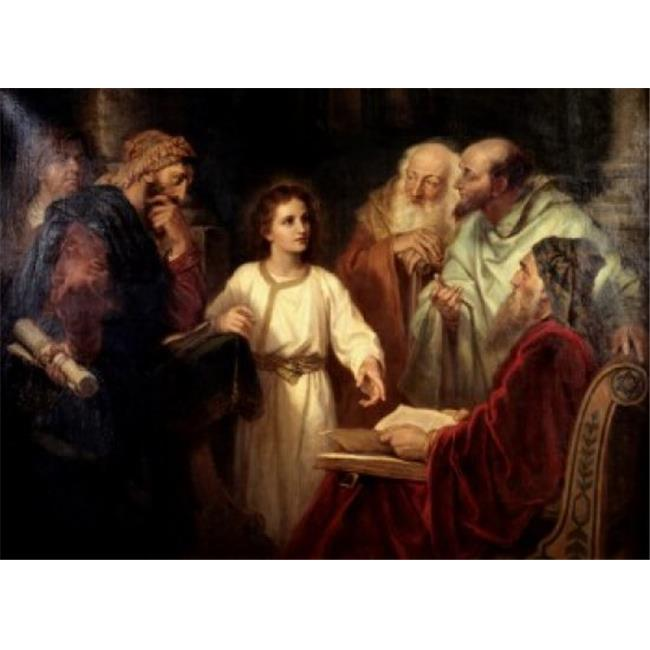 Posterazzi SAL9003200 Christ in the Temple at 12 Heinrich Hoffmann 1824-1911 German Poster Print - 18 x 24 in. - image 1 de 1