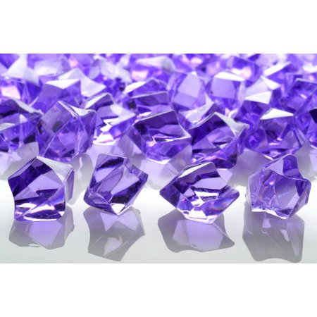 Quasimoon Lavender Colored Gemstones Acrylic Crystal Wedding Table Confetti Vase Filler (3/4 lb Bag) by