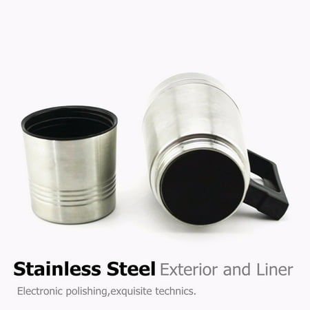 12V 304 Stainless Steel and Food Grade Material Car Stainless Steel Cigarette Lighter Heating Kettle Mug Electric Travel Thermoses Water Coffee Cup  - image 5 of 13